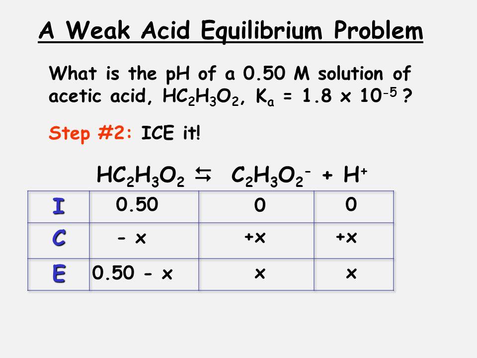 A Weak Acid Equilibrium Problem