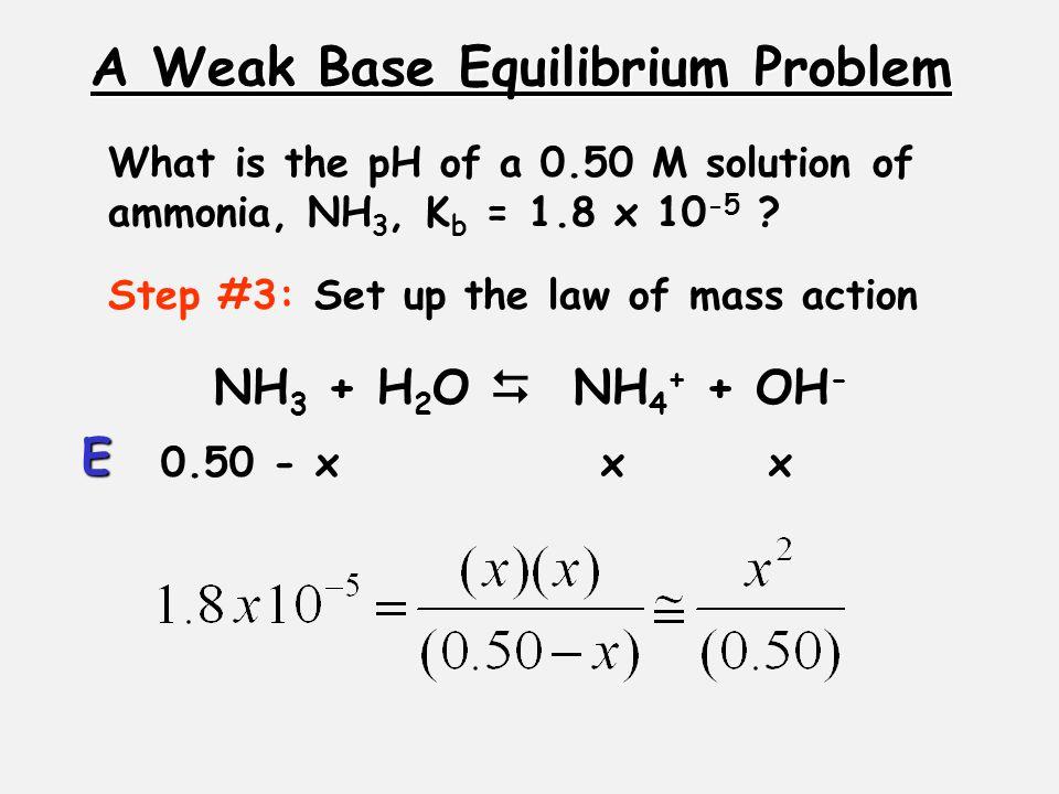 A Weak Base Equilibrium Problem