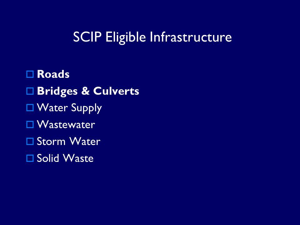 SCIP Eligible Infrastructure