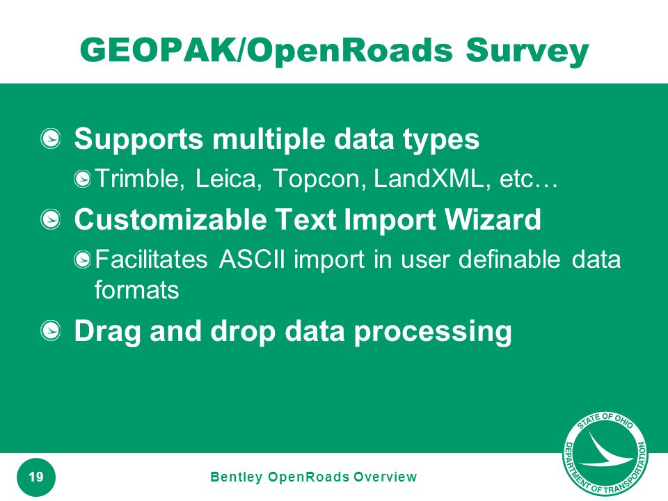 GEOPAK/OpenRoads Survey