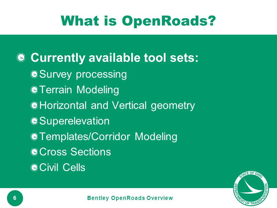 Bentley OpenRoads Overview