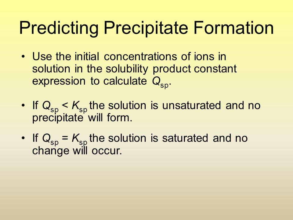 Predicting Precipitate Formation