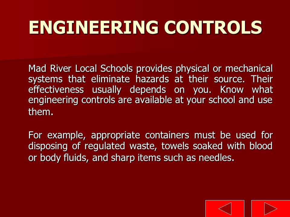 ENGINEERING CONTROLS