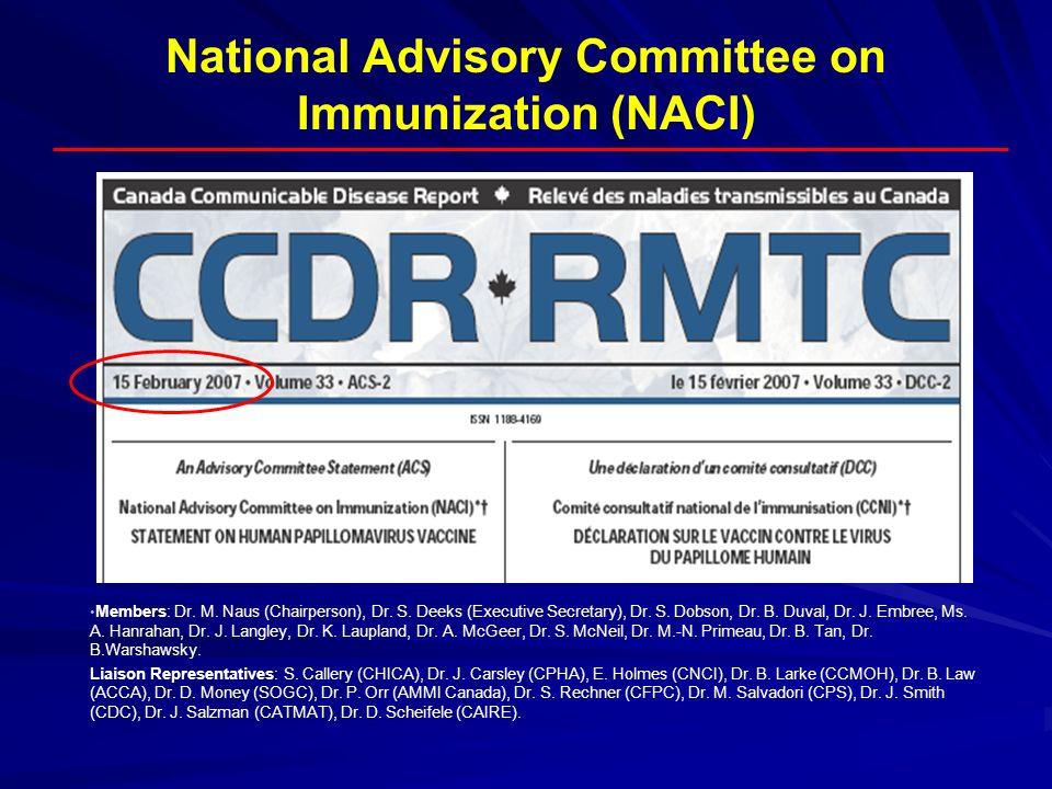 National Advisory Committee on Immunization (NACI)