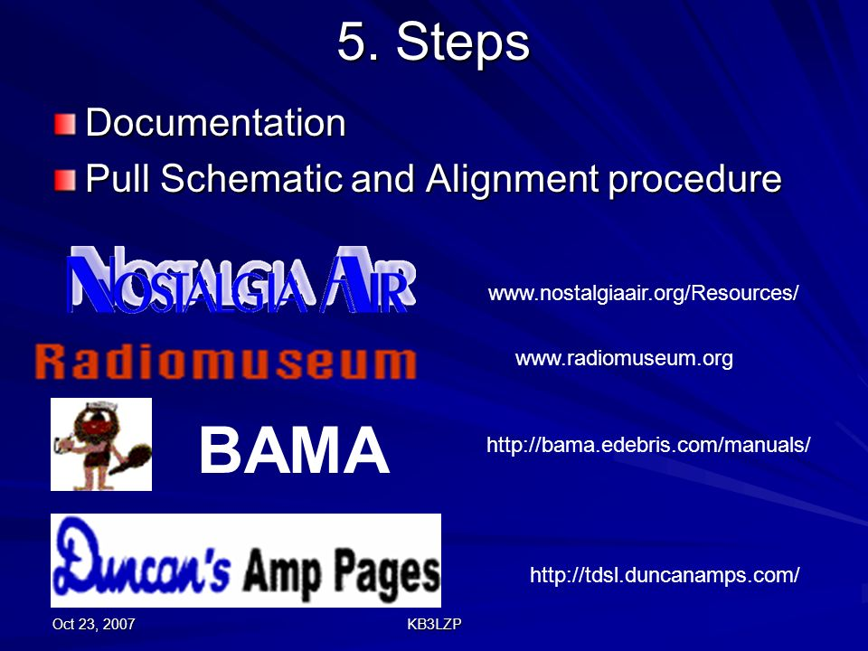BAMA 5. Steps Documentation Pull Schematic and Alignment procedure