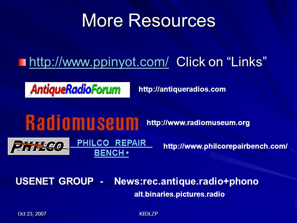 More Resources http://www.ppinyot.com/ Click on Links