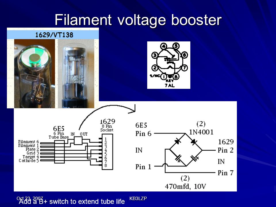Filament voltage booster