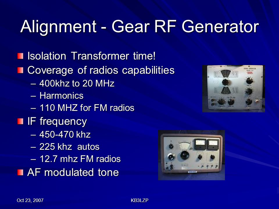 Alignment - Gear RF Generator