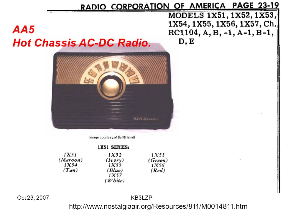 Hot Chassis AC-DC Radio.