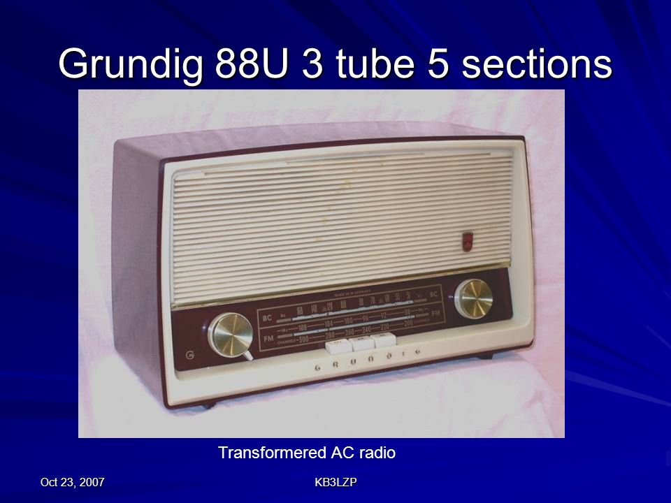 Grundig 88U 3 tube 5 sections