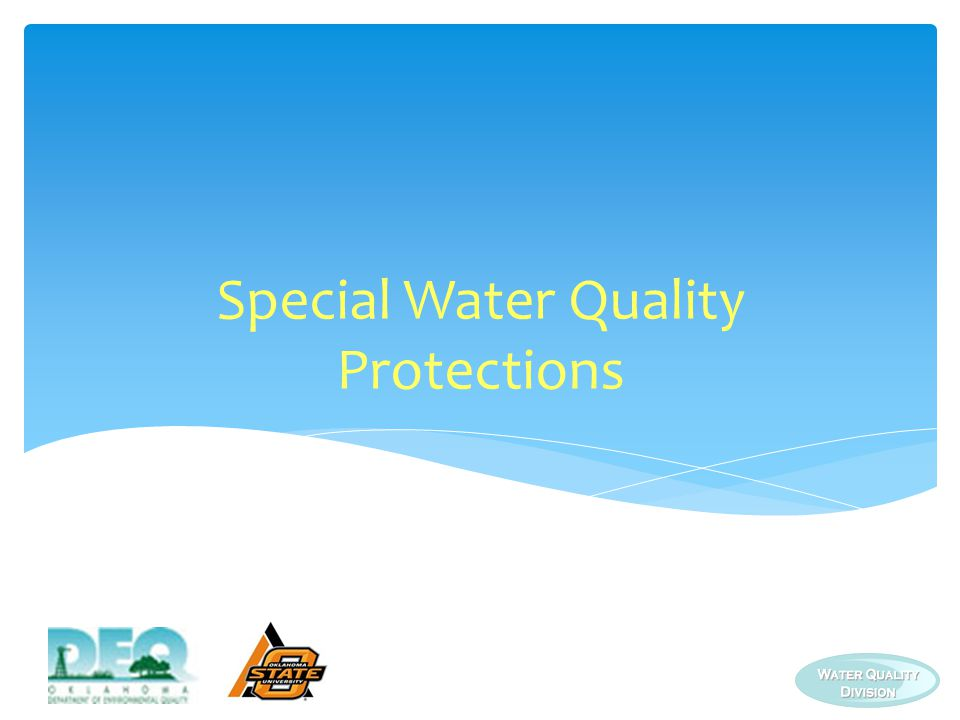 Special Water Quality Protections