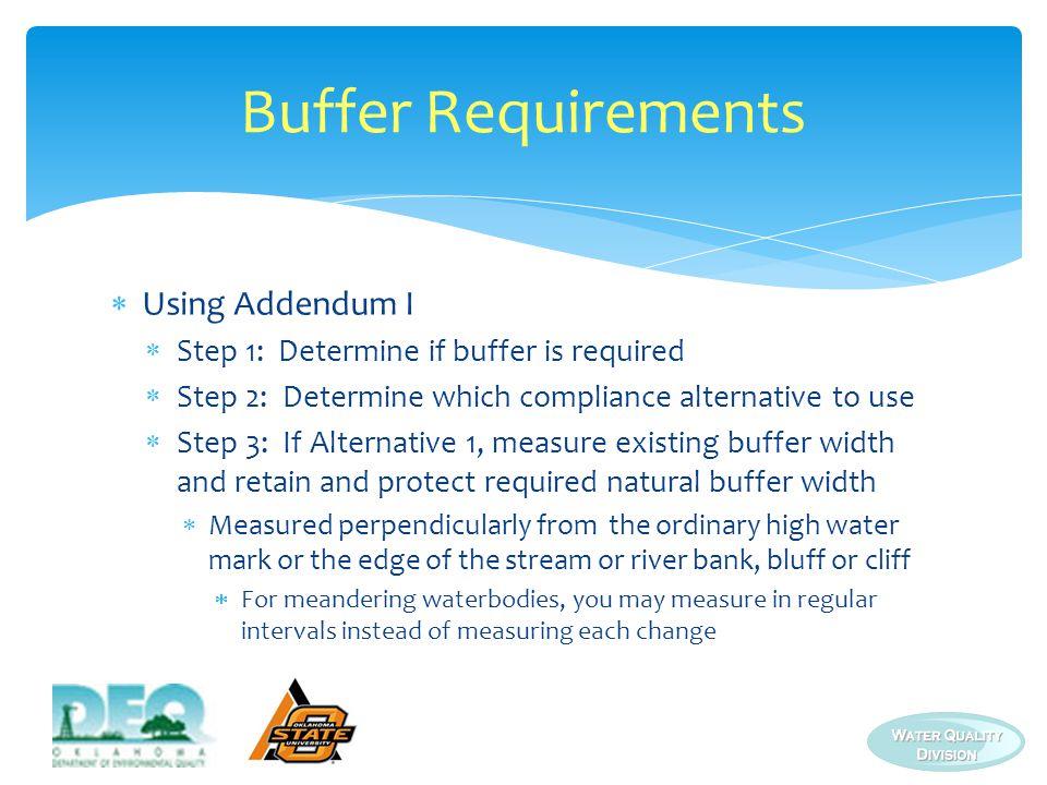 Buffer Requirements Using Addendum I