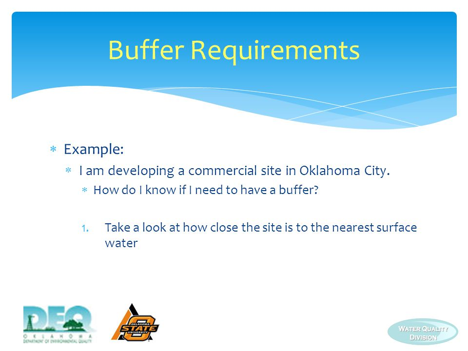 Buffer Requirements Example: