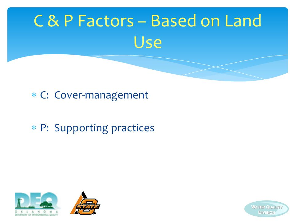 C & P Factors – Based on Land Use