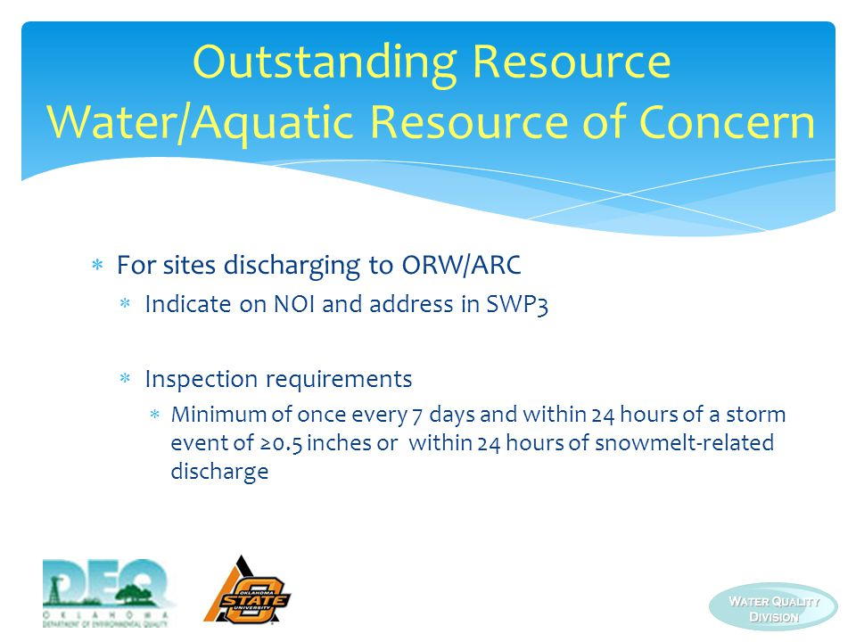 Outstanding Resource Water/Aquatic Resource of Concern