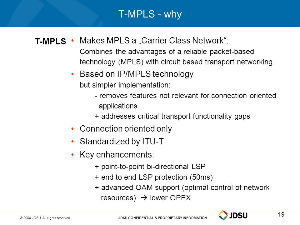 T-MPLS - why T-MPLS.