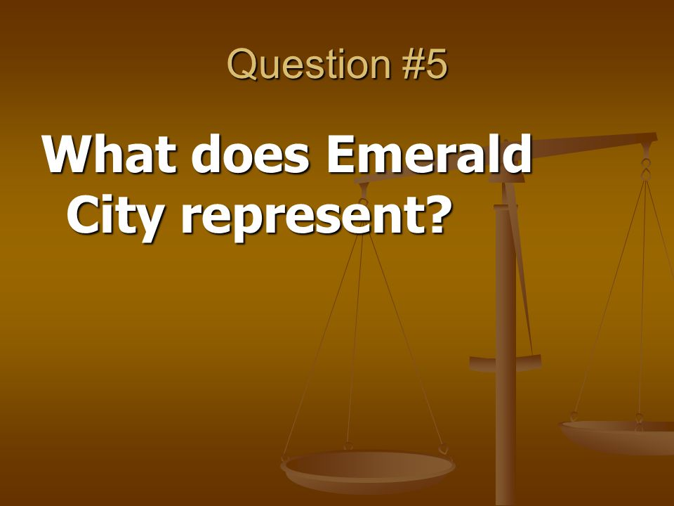 What does Emerald City represent