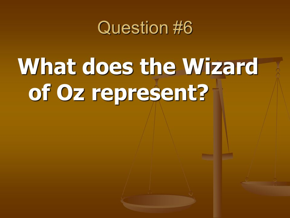 What does the Wizard of Oz represent