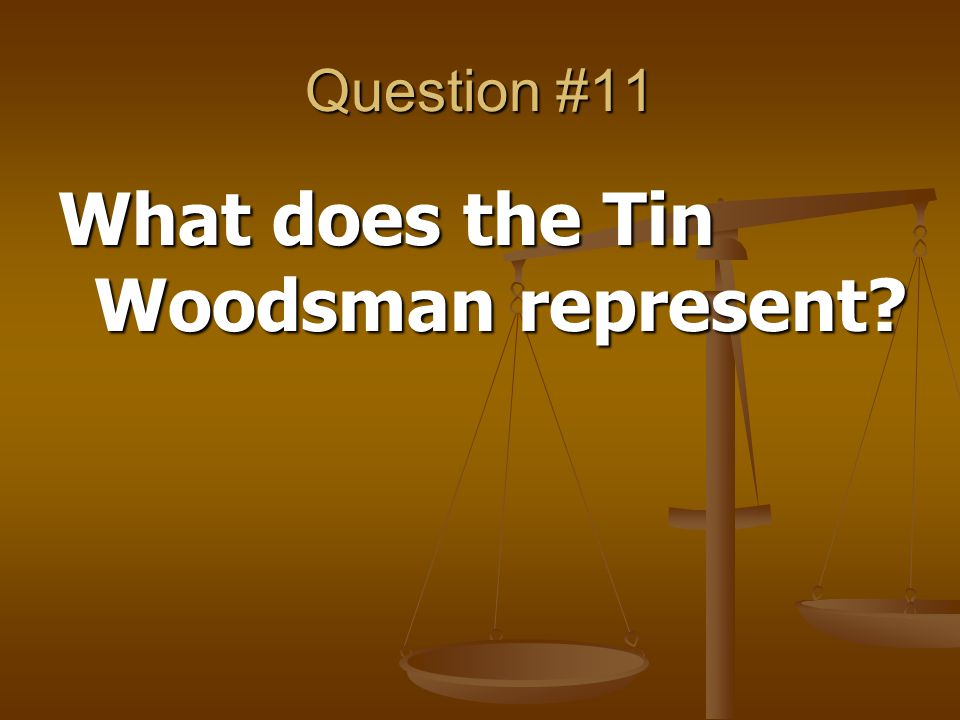 What does the Tin Woodsman represent
