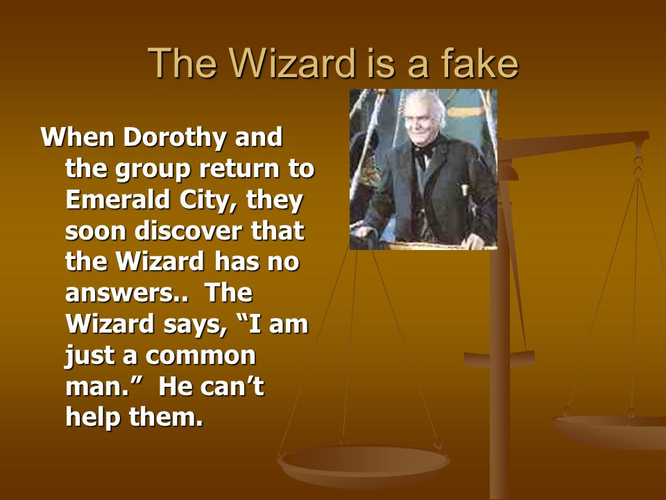 The Wizard is a fake