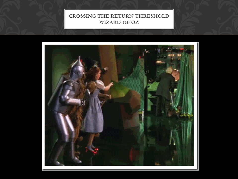 Crossing the return threshold Wizard of Oz
