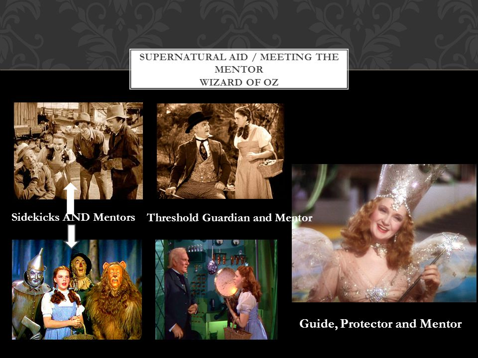 Supernatural aid / Meeting the Mentor Wizard of Oz