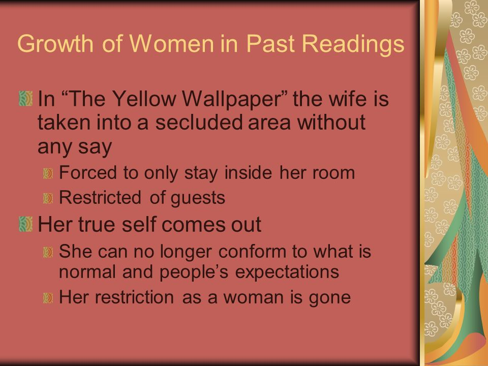 Growth of Women in Past Readings