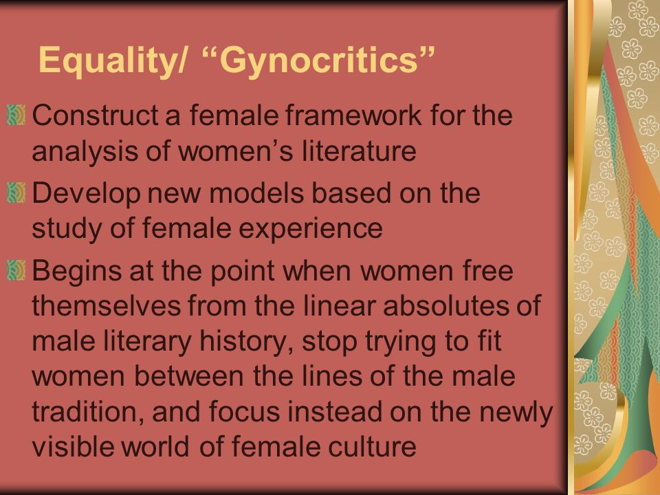 Equality/ Gynocritics