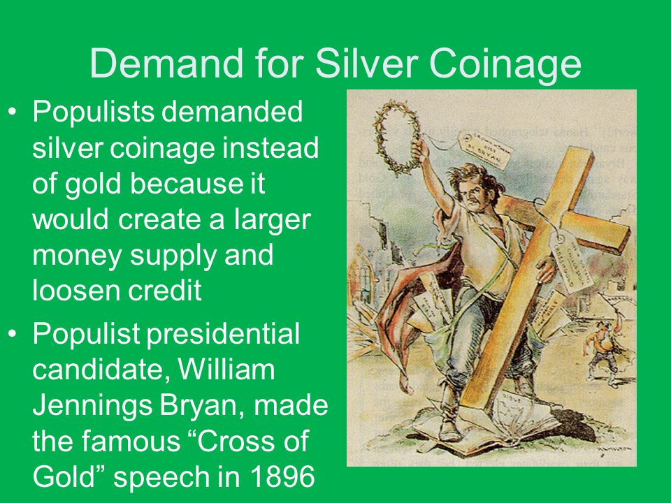 Demand for Silver Coinage