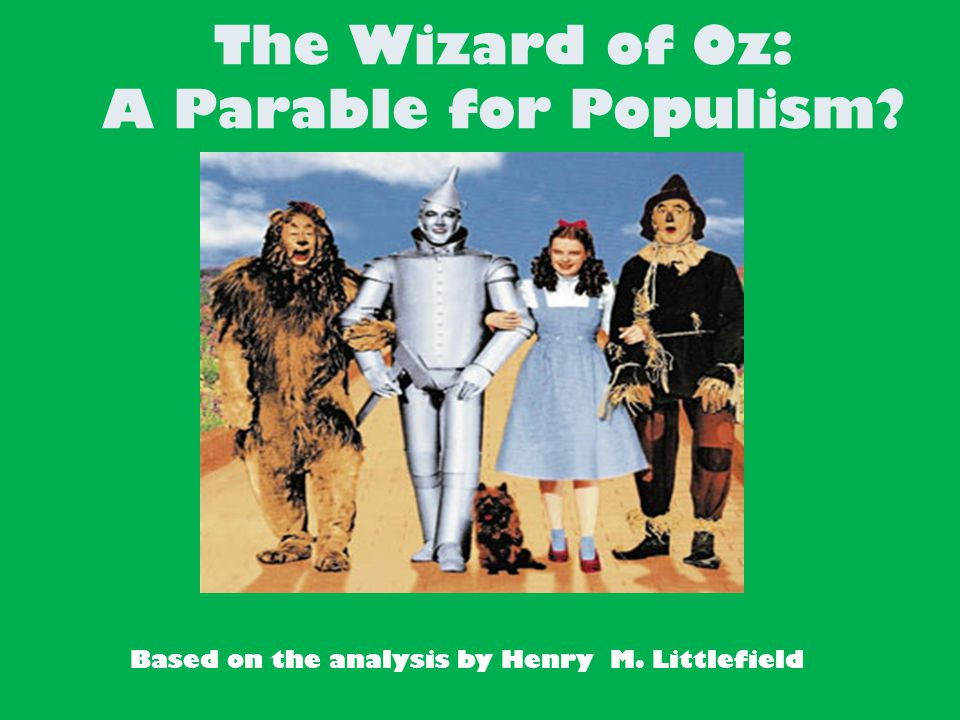 parable on populism essay Populism lecture includes the movement, reconstruction politics and african american farmers, farmers' alliances and the grange, plessy v ferguson, booker t.