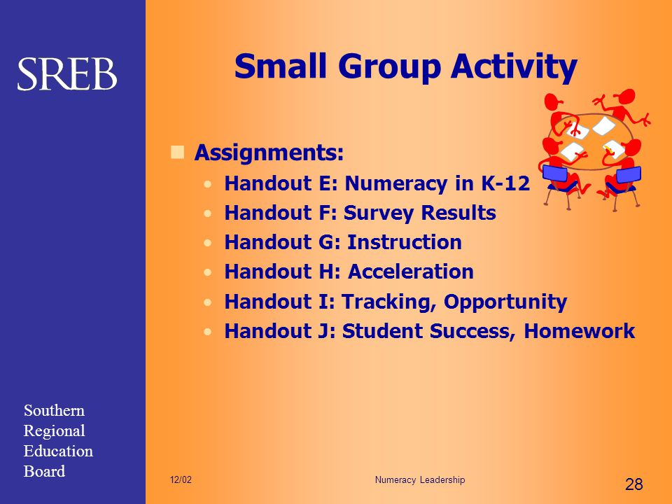 Small Group Activity Assignments: Handout E: Numeracy in K-12