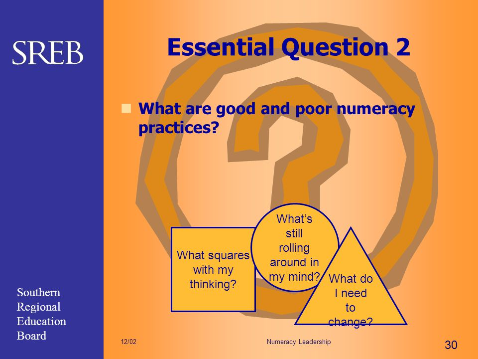 Essential Question 2 What are good and poor numeracy practices