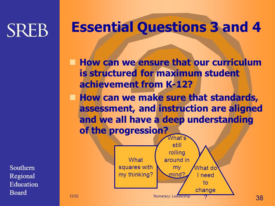 Essential Questions 3 and 4