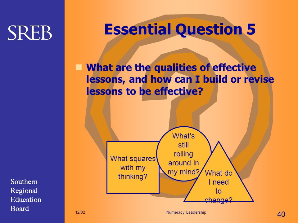 Essential Question 5 What are the qualities of effective lessons, and how can I build or revise lessons to be effective