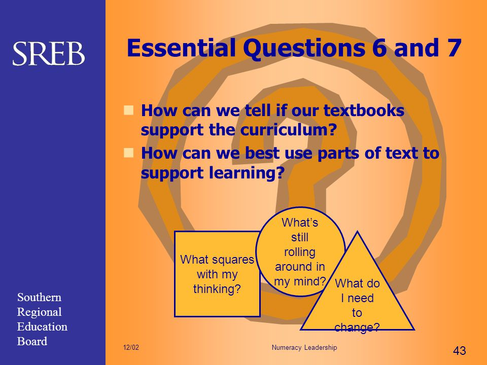 Essential Questions 6 and 7