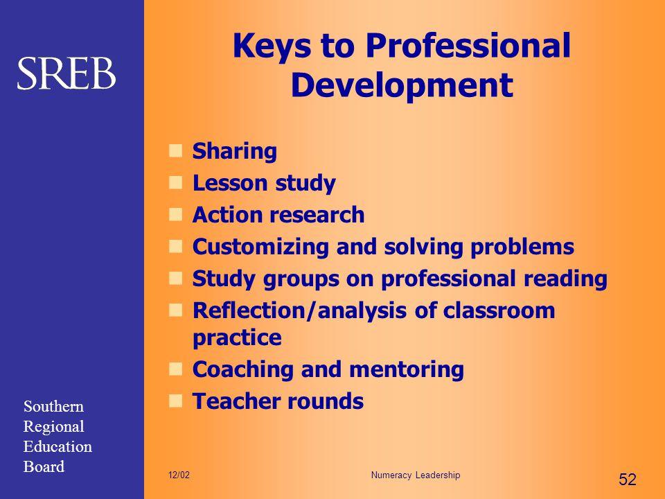 Keys to Professional Development
