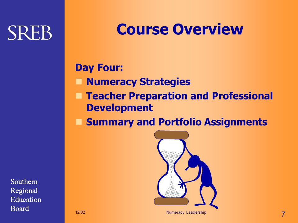 Course Overview Day Four: Numeracy Strategies