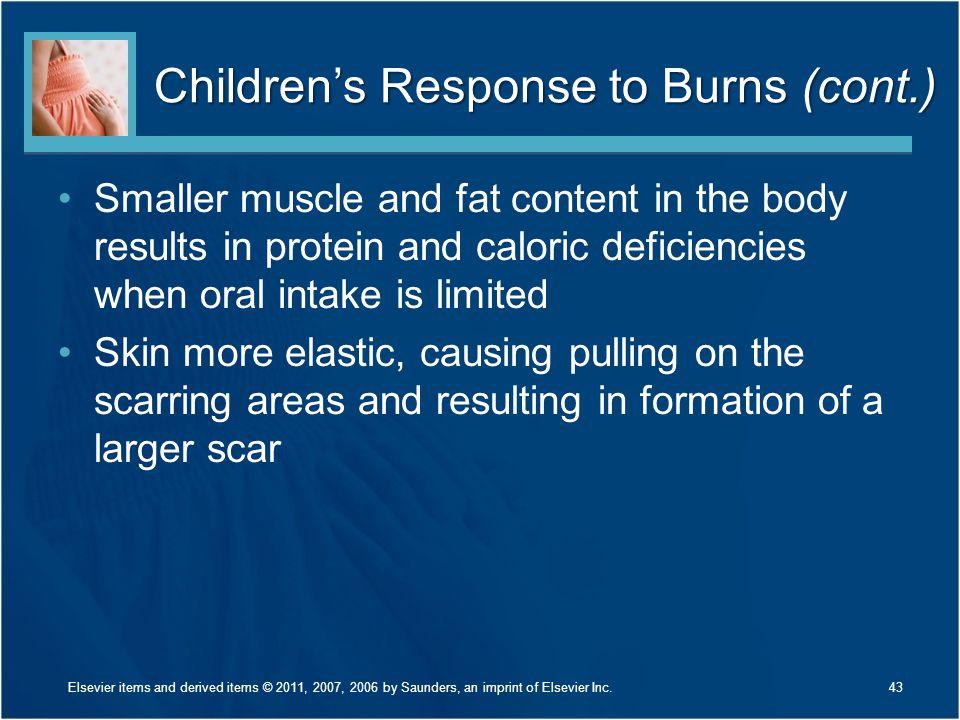 Children's Response to Burns (cont.)