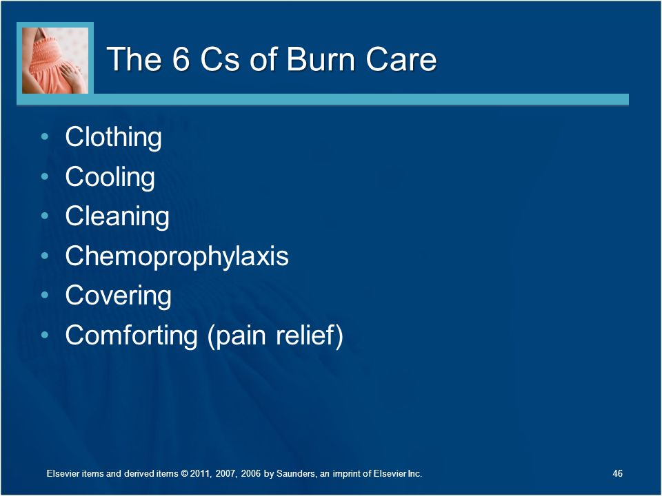 The 6 Cs of Burn Care Clothing Cooling Cleaning Chemoprophylaxis