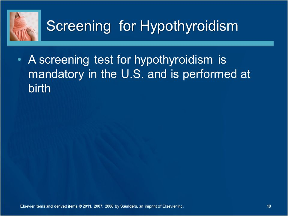 Screening for Hypothyroidism