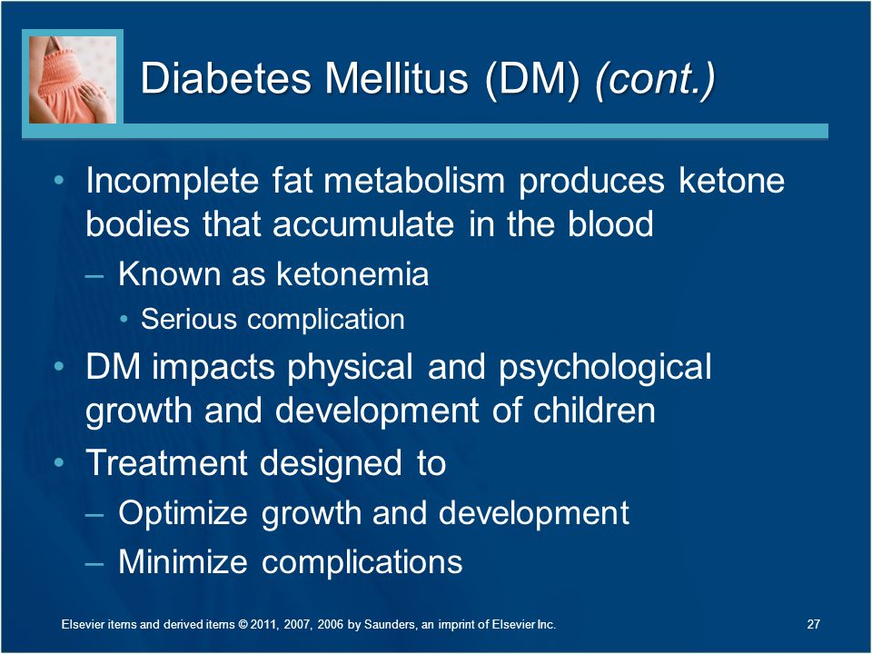 Diabetes Mellitus (DM) (cont.)