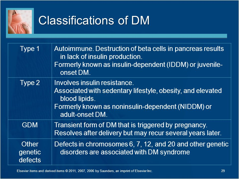 Classifications of DM Type 1