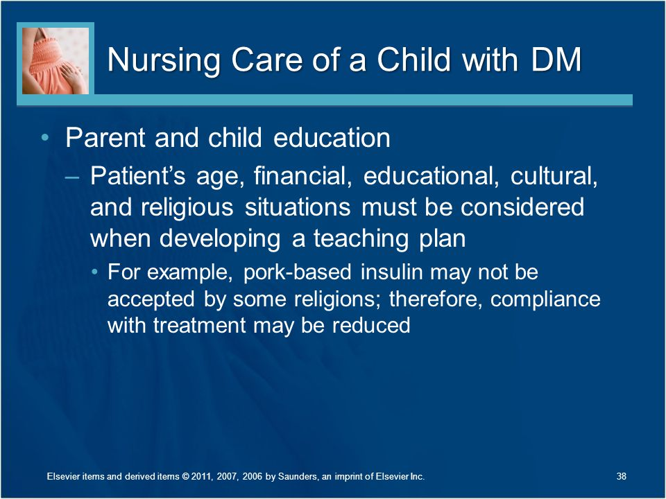 Nursing Care of a Child with DM
