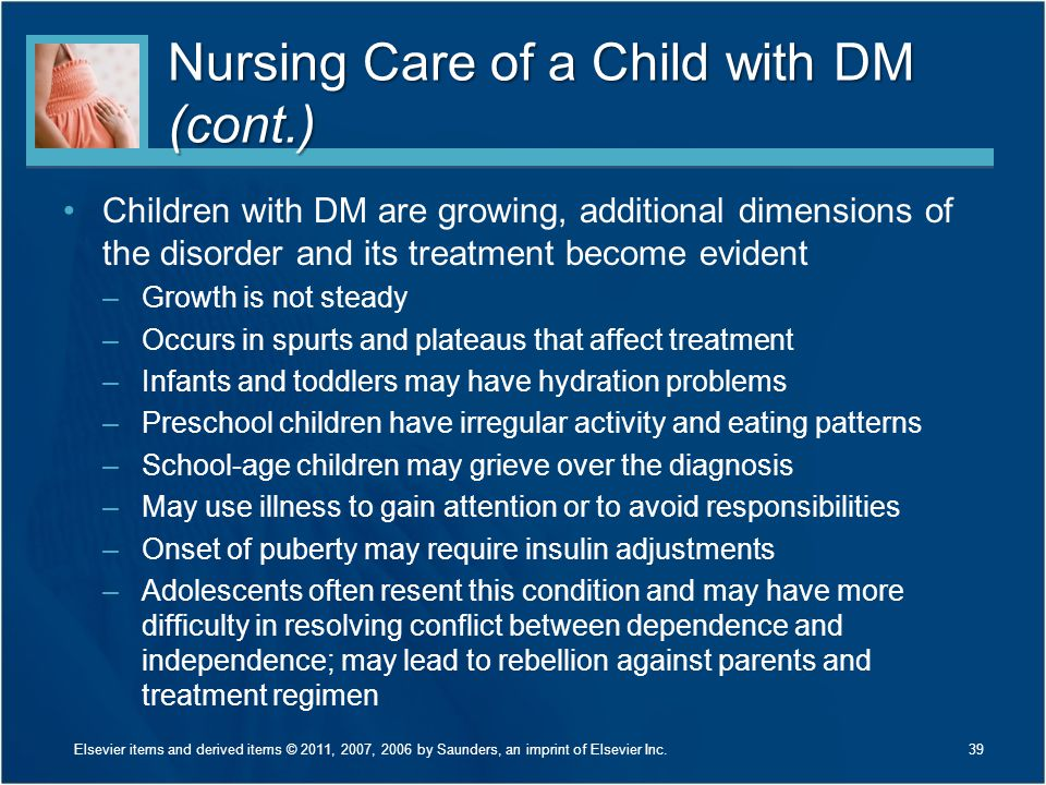 Nursing Care of a Child with DM (cont.)