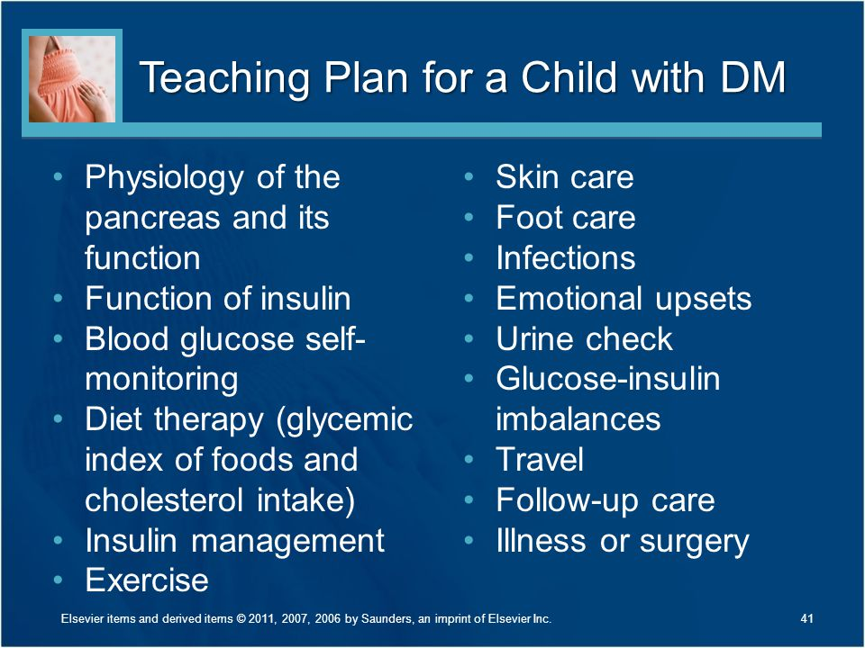 Teaching Plan for a Child with DM