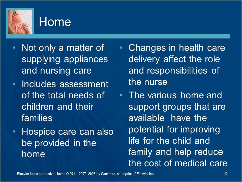 Home Not only a matter of supplying appliances and nursing care