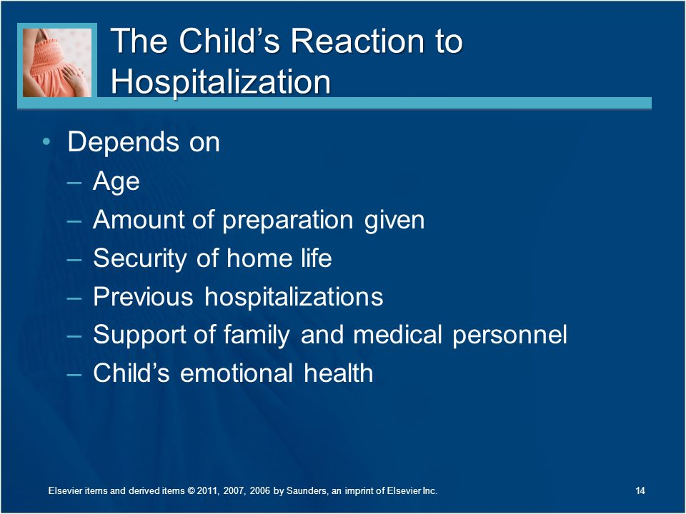 The Child's Reaction to Hospitalization