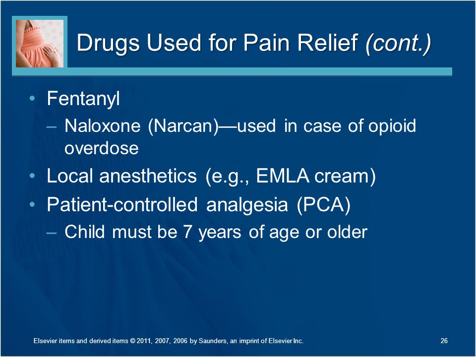 Drugs Used for Pain Relief (cont.)
