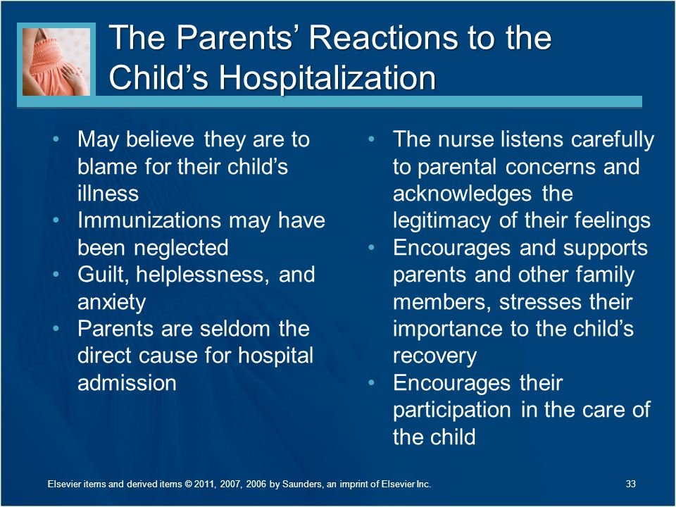 The Parents' Reactions to the Child's Hospitalization
