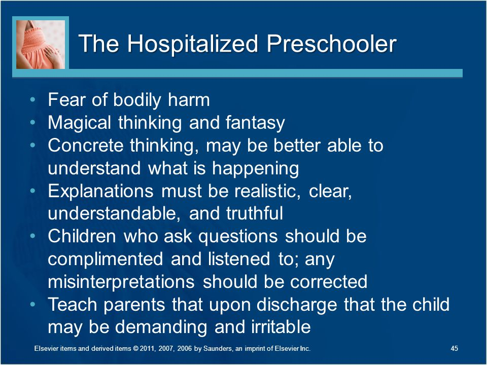 The Hospitalized Preschooler